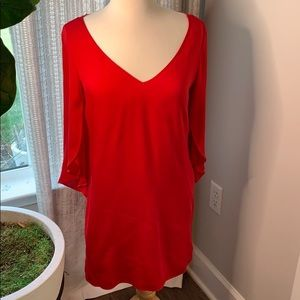 Milly 8 red silk dress